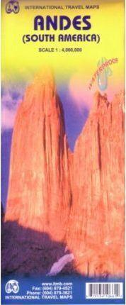 MAPA ANDES (SUR AMÉRICA) 1:4.000.000 -ITMB