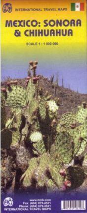 MAPA MÉXICO: SONORA & CHIHUAHUA   1:1.000.000 - ITMB