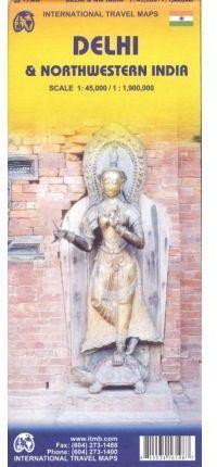 MAPA DELHI & NORTHWESTERN INDIA 1:45.000 / 1:1.900.000 -ITMB