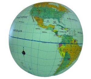 INFLATABLE GLOBE POLITICAL WORLD 12