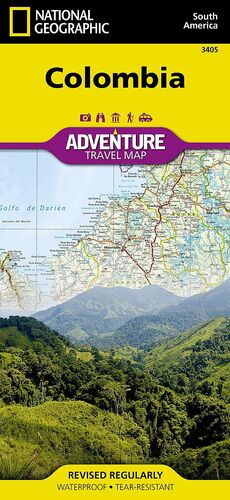 COLOMBIA  *MAPA NATIONAL GEOGRAPHIC 2012*