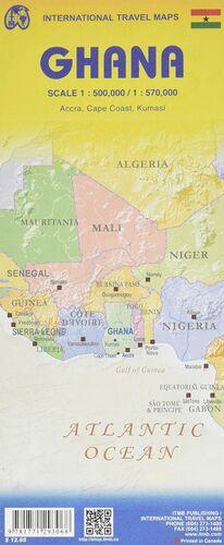 MAPA GHANA  SOUTH  1:500.000  NORTH  1:570.000 -ITMB