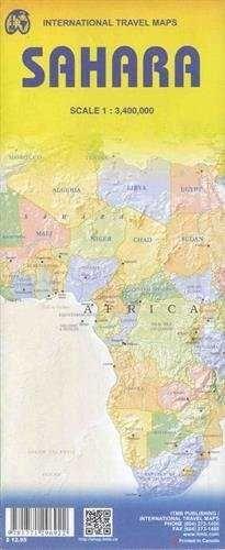 MAPA  SAHARA 1:3.400.000 -ITMB