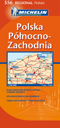 MAPA REGIONAL POLSKA PÓ?NOCNO-ZACHODNIA  / POLAND NORTH WEST
