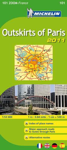 MAPA ZOOM OUTSKIRTS OF PARIS