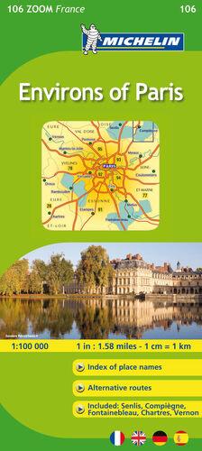 MAPA ZOOM ENVIRONS OF PARIS / ENVIRONS DE PARIS