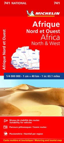 MAPA NATIONAL AFRICA NORTE Y OESTE
