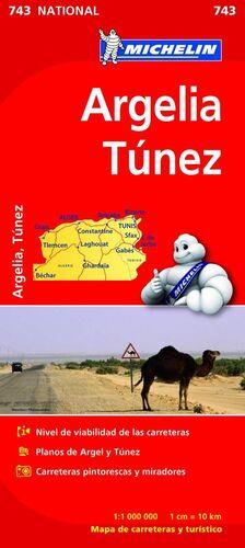 MAPA NATIONAL ARGELIA TÚNEZ
