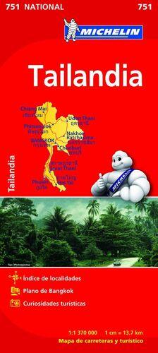 MAPA NATIONAL TAILANDIA