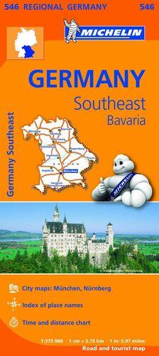 MAPA REGIONAL GERMANY SOUTHEAST, BAVARIA