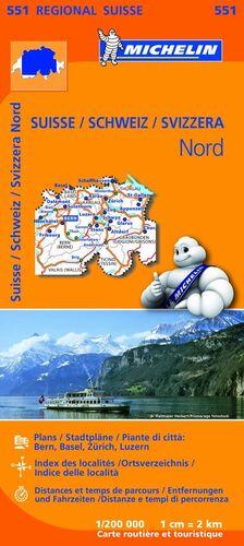 MAPA REGIONAL SUISSE NORD/ SCHWEIZ NORD/ SVIZZERA NORD