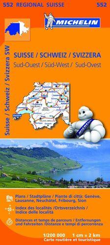 MAPA REGIONAL SUISSE SUD-OUEST/ SCHWEIZ SÜD-WEST/ SVIZZERA SUD.OUEST