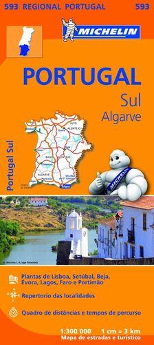 MAPA REGIONAL PORTUGAL SUL - ALGARVE