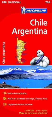 MAPA NATIONAL CHILE - ARGENTINA