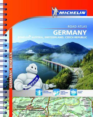 ROAD ATLAS GERMANY, BENELUX, AUSTRIA, SWITZERLAND, CZECH REPUBLIC
