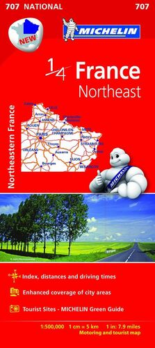 MAPA NATIONAL FRANCE NORTHEAST