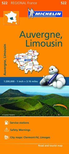 MAPA REGIONAL AUVERGNE, LIMOUSIN