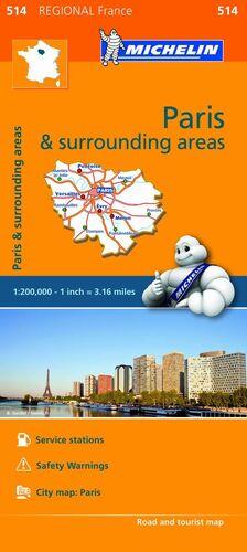 MAPA REGIONAL PARIS & SURROUNDINGS AREAS