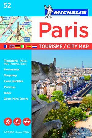 PLANO PARIS TOURISME