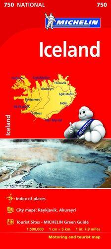 MAPA ICELAND (MAPA NACIONAL ISLANDIA MICHELIN)