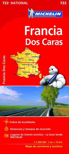 MAPA NATIONAL FRANCIA (DOBLE CARA)