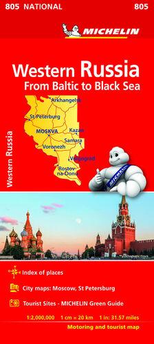 MAPA NATIONAL RUSIA OESTE - DEL BALTICO AL MAR NEGRO