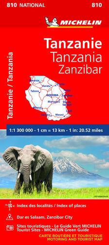 MAPA NATIONAL TANZANIA-ZANZÍBAR