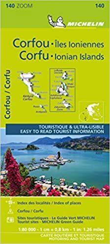 MAPA ZOOM CORFU AND THE IONIAN ISLANDS (11140)