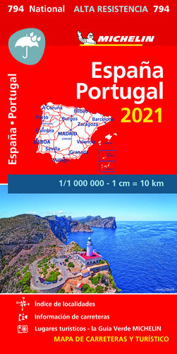 MAPA NATIONAL ESPAÑA - PORTUGAL 2021
