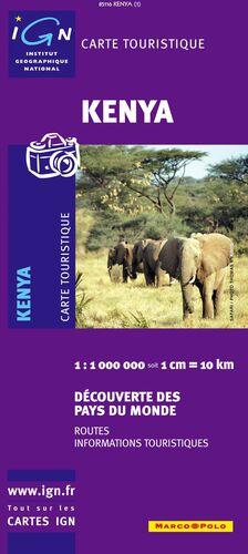 MAPA KENYA - KENIA 1:1000000