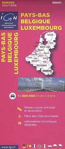 PAYS-BAS BELGIQUE LUXEMBOURG 1:300.000 -IGN