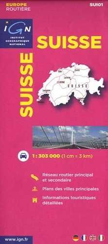 SUISSE 1:303.000 -EUROPE ROUTIERE IGN