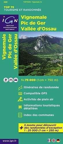 VIGNEMALE 1:75.000 PIC DE GER, VALLEE D'OSSAU -TOP