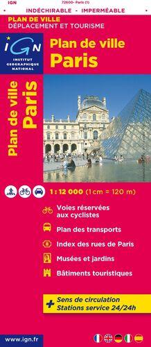 PARIS INDECHIRABLE 1:12.000 PLAN DE VILLE -IGN