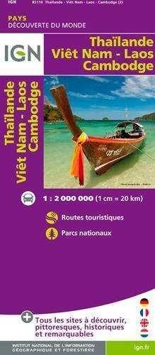 THAILANDE VIETNAM LAOS CAMBODGE 1:2.000.000 -IGN