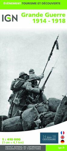GRANDE GUERRE 1914-1918 1:410.000 -IGN