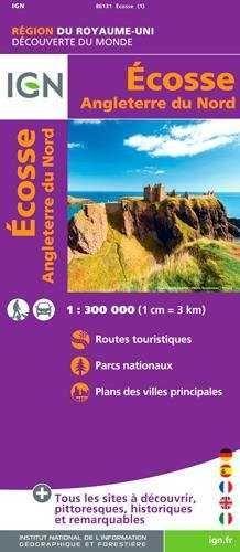 ECOSSE 1:300.000 ANGLETERRE NORD -IGN