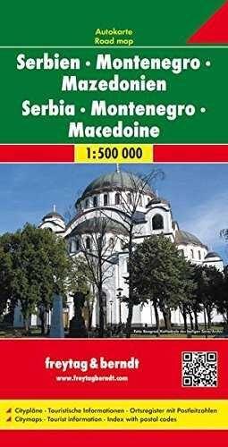 MAPA DE SERBIA-MONTENEGRO-MACEDOINE 1:500.000