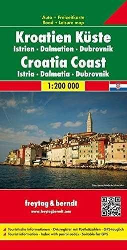 MAPA COSTA CROATA  ISTRIA-DALMACIA-DUBROVNIK  1:120000