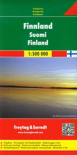 MAPA FINLANDIA 1:500.000