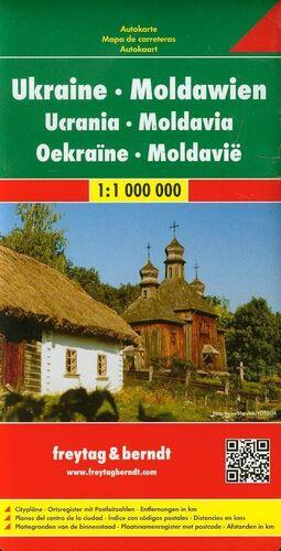 UCRANIA Y MOLDAVIA, MAPA DE CARRETERAS (1:1000000)