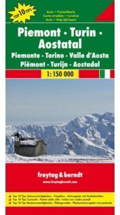 MAPA PIAMONTE - TURIN - VALLE DE AOSTA 1;15000