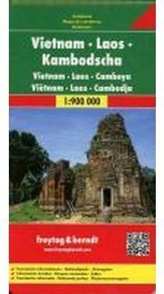 VIETNAM LAOS CAMBOYA **MAPA FREYTAG**