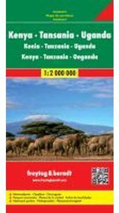 MAPA KENIA TANZANIA UGANDA  1: 2.000.000