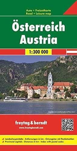MAPA AUSTRIA 1/300.000 - 2015 (ALEMAN, FRANCES, INGLES)