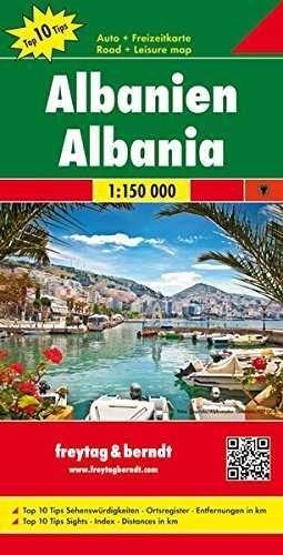 ALBANIEN  *MAPA FREYTAG 2015*   1 : 150 000