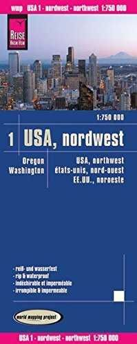 USA: NOROESTE 1:750.000