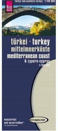 TURQUÍA: COSTA MEDITERRANEA 1:700 000