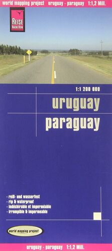 URUGUAY - PARAGUAY 1:1200000 IMPERMEABLE