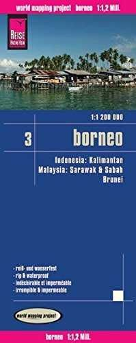BORNEO INDONESIA MAPA